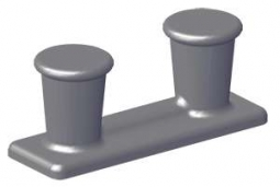 DF-537A Cast Steel Heavy Double Bitts