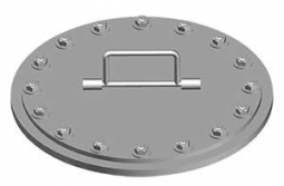 DF-509-18 Flush Stud Round Hatch