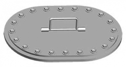 DF-510 15x23 Flush Stud Oval Hatch