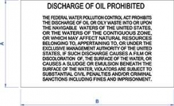 DF-513 Oil Pollution Warning Sign